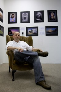 Richard Olpin pictured at the Broadwalk Arts Exhibition